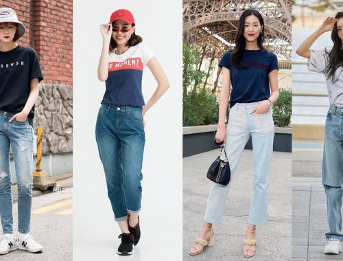 Phối quần jeans nữ
